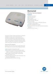 Domonial Wireless Security System - ADT Europe Branded Datasheet
