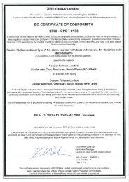 flashni fl type a conventional sounder / beacon range - bre certificate ...