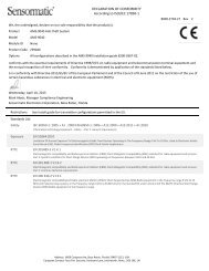 Sensormatic AMS-9040 ISO/IEC Guide 22 and EN45014 Certificate ...