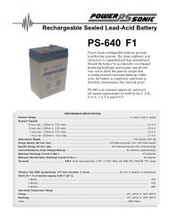 PS-640 F1 Rechargeable Sealed Lead-Acid Battery
