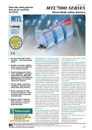 MTL7000 Series Shunt-Diode Safety Barriers Datasheet (575k)