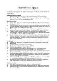 Bijlage 4 Overzicht losse bijlagen - Gemeente Tynaarlo