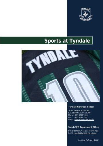 Sports at Tyndale - Handbook - Tyndale Christian School