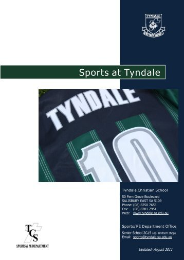 1. overview of sports at tyndale - Tyndale Christian School