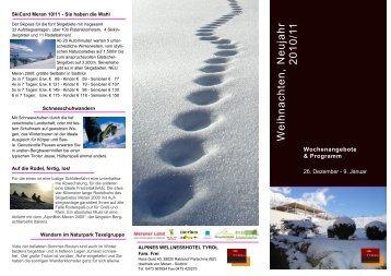 Download Weihnachtsfolder - Alpinen Wellnesshotel Tyrol