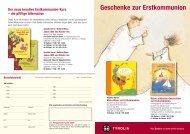 Geschenke zur Erstkommunion - Tyrolia-Verlag