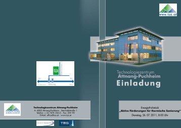 Dienstag, 26. 07. 2011, 8:00 Uhr - Technologiezentrum Attnang ...