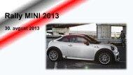 Predstavitev in prijavnica Rally MINI 2013