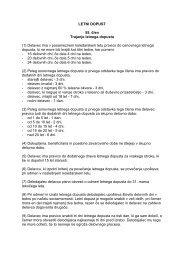 LETNI DOPUST 55. člen Trajanje letnega dopusta (1) Delavec ima v ...