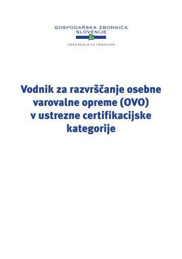 Vodnik za razvrščanje osebne varovalne opreme (OVO)