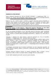 Regres za letni dopust 2010 - Trgovinska zbornica Slovenije