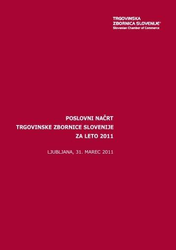 Poslovni načrt TZS za leto 2011 - Trgovinska zbornica Slovenije