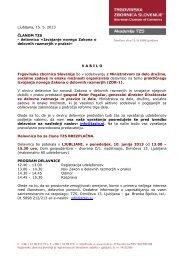 Program in prijavnica - Trgovinska zbornica Slovenije