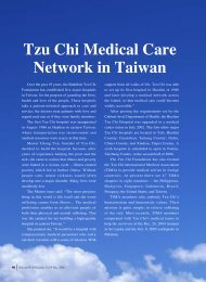 46 Tzu Chi Medical Care Network in Taiwan