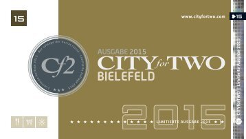 CITYforTWO BIELEFELD | Limitierte Ausgabe 2015