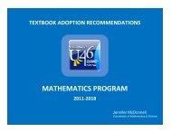 Math Textbook 2011 - School District U-46