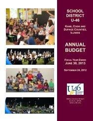 Annual Budget FY2013 - School District U-46