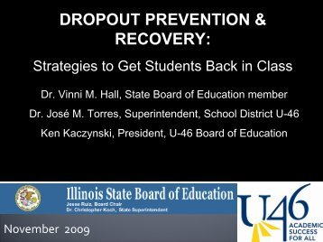 DROPOUT PREVENTION & RECOVERY: - School District U-46