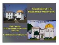 Planetarium Presentation - School District U-46