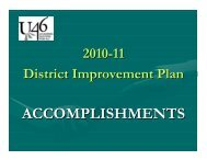 2010-11 DIP Accomplishments - School District U-46