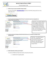 Infinite Campus FAQ's - School District U-46