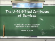 Gifted Continuum of Services - School District U-46