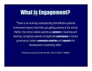 Family & Community Engagement Committee CAC Report