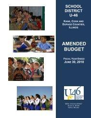 FY 2010 Amended Budget - School District U-46