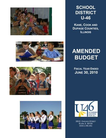 FY 2010 Amended Budget - School District U-46