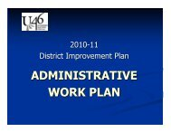2010-11 DIP Administrative Work Plan - School District U-46