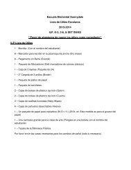 Escuela Elemental Sunnydale Lista de Útiles Escolares 2013-2014 ...