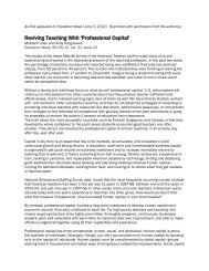 Reviving Teaching With 'Professional Capital' - School District U-46