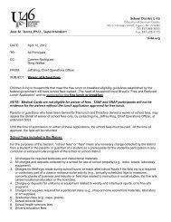 Memo regarding Waiver of School Fees - School District U-46