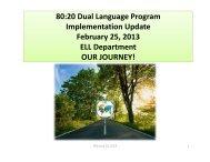 Dual Language Program Implementation Update - School District U-46