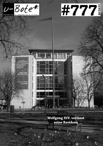 Wolfgang XIV. verlässt seine Residenz