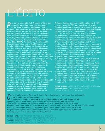 Edito + Sommaire - Université de Bourgogne