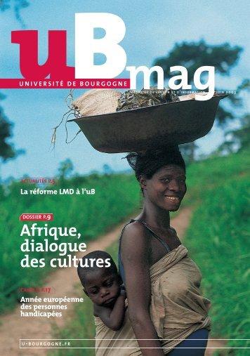 Télécharger uBmag 03 - Université de Bourgogne