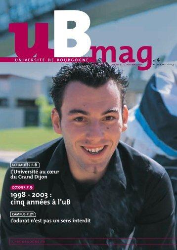 Télécharger uBmag 04 - Université de Bourgogne