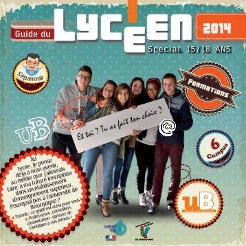 Téléchargez le Guide du Lycéen - Université de Bourgogne