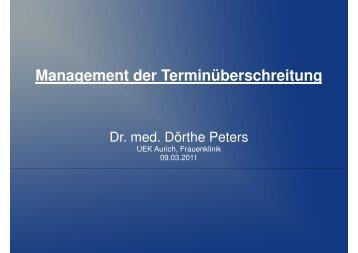 Dr. Peters - Management der Terminüberschreitung - 09-03-2011