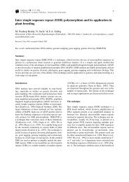 Inter simple sequence repeat (ISSR) polymorphism and its ...