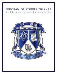 Program of Studies 2012-2013 FINAL - U-32 High School