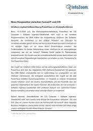 Neue Kooperation zwischen humanIT und CSI - U3 Marketing ...
