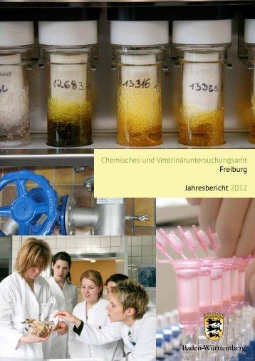 Jahresbericht 2012 - Chemischen und Veterinäruntersuchungsämter