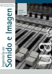 ingeniería en sonido e imagen - Universidad de Alicante