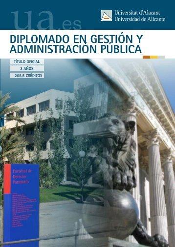 Gestión y Administración Pública - Universidad de Alicante