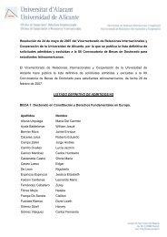 Lista definitiva de admitidos y excluidos - Universidad de Alicante
