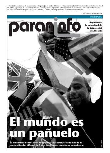Diario Información - 24/04/2007 - Universidad de Alicante