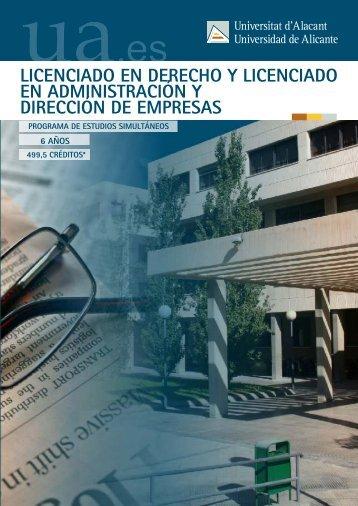Derecho y Administración y Dirección de Empresas