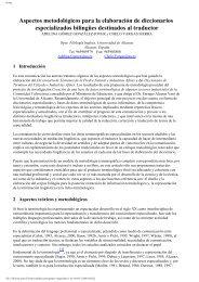 Aspectos metodológicos para la elaboración de diccionarios ...